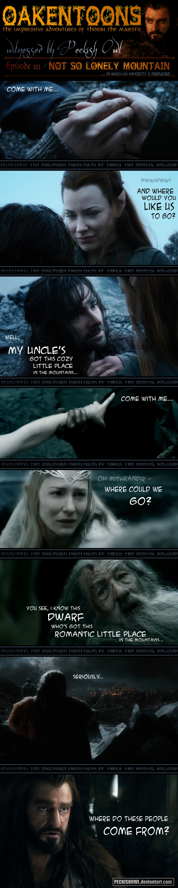 Oakentoon #121: Not So Lonely Mountain by PeckishOwl