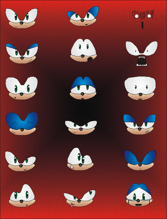 Sonic Facial Expressions By Shadnix On Deviantart