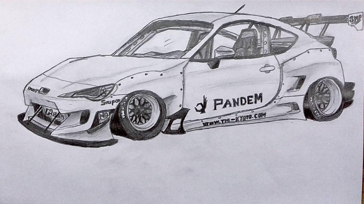 Subaru BRZ (PANDEM Rocket Bunny) by WowDrawz on DeviantArt