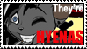 They're Hyenas Stamp by sushikitten
