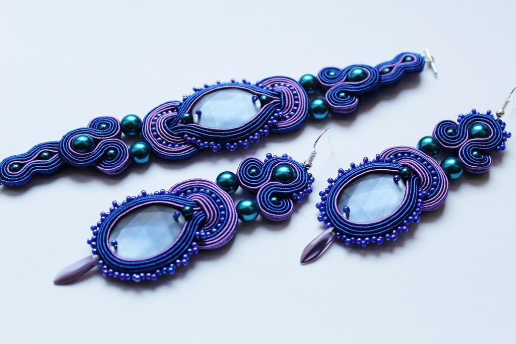 Set cornflower and violet by GosiaBizu