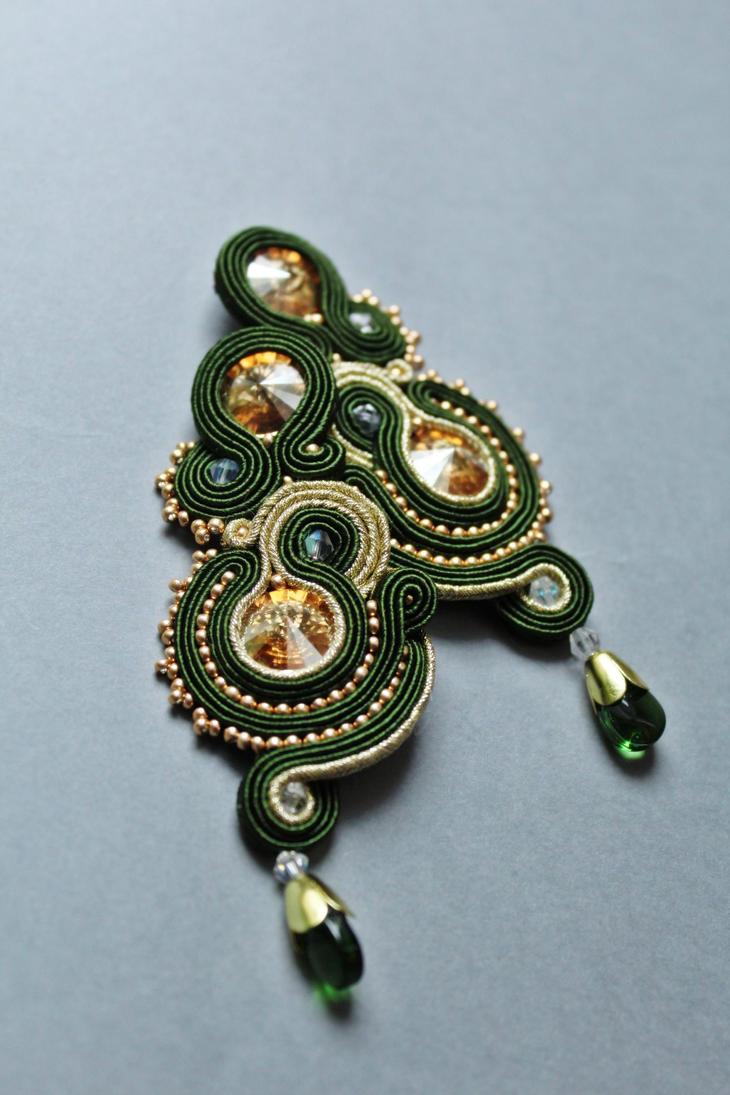 Earrings soutache by GosiaBizu