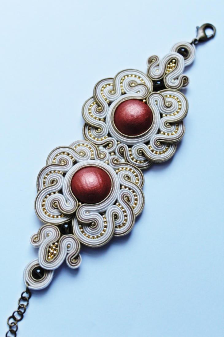 Owl bracelet soutache by GosiaBizu