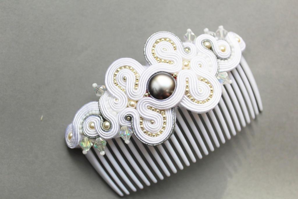 hair comb with soutache by GosiaBizu