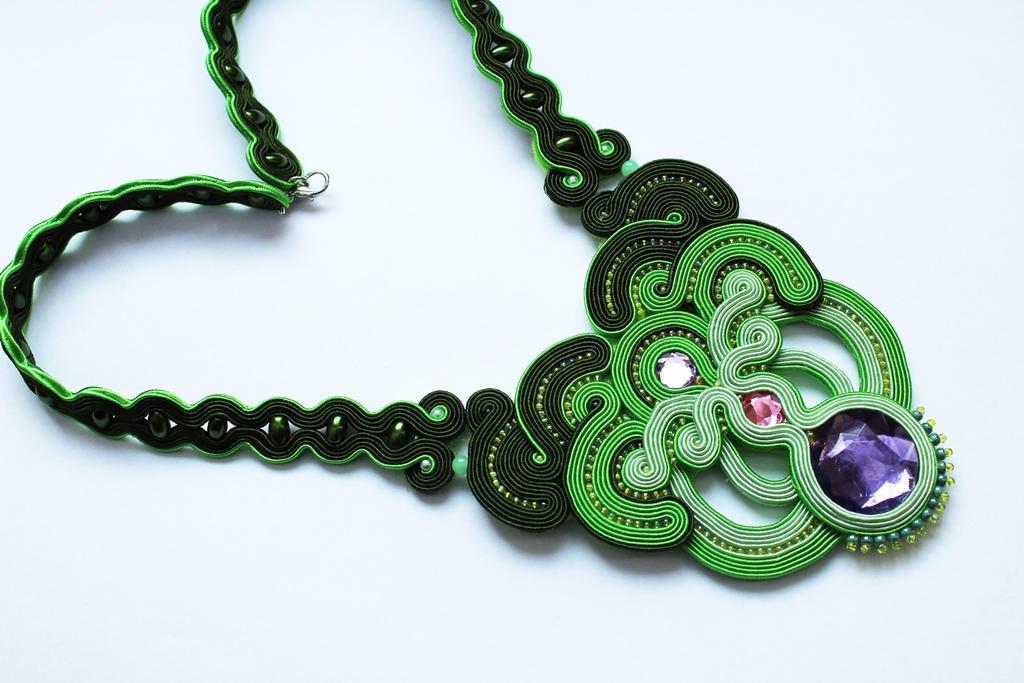 Soutache Necklace Toxic by GosiaBizu