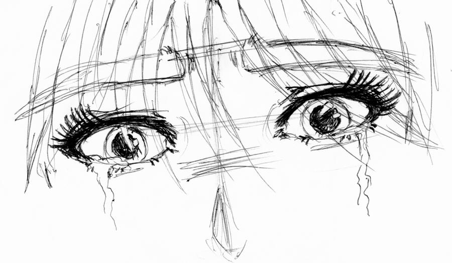 Sad Eyes...Sketch Test by EndlessHope1890 on DeviantArt