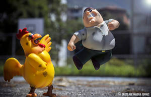 Giant Chicken VS Peter Griffin - Family Guy