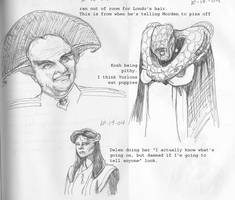 Babylon 5 alien embassadors by lesliweird