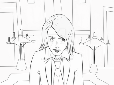 Line work:Gerard Way Helena Music Video Screen-cap by Girl-With-The-Wings