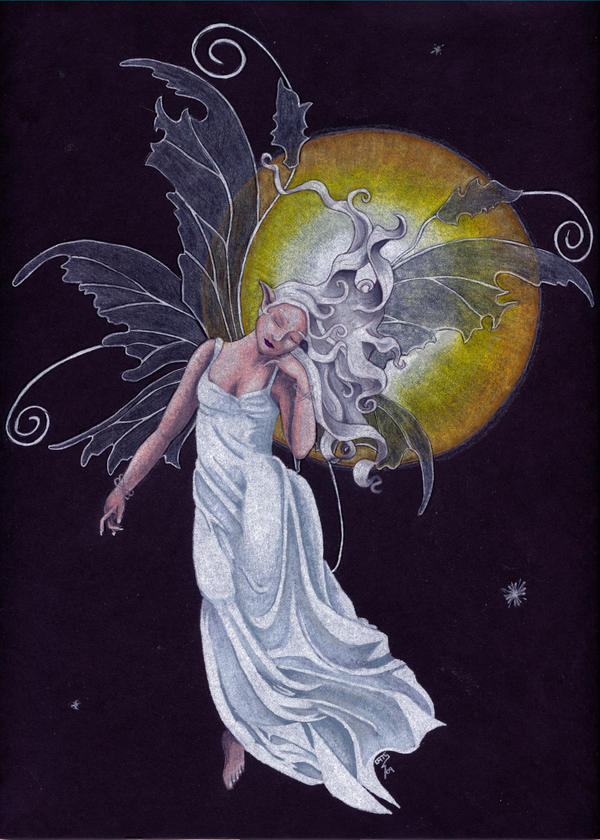 Fairy of the Full Moon by StormmeKinkade