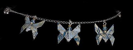 Blue Butterfly Bracelet by StormmeKinkade