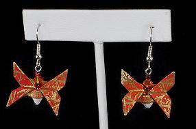 Fire Butterfly Earings by StormmeKinkade