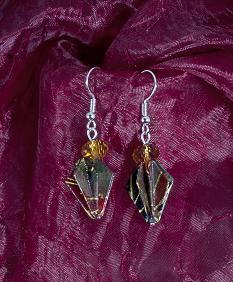 Burgundy Cone Earings by StormmeKinkade