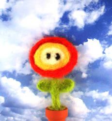 Fire Flower felted. by Stromasdragon
