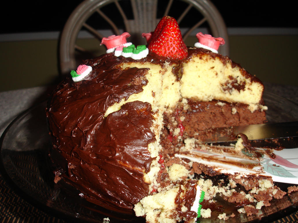 Images Of Eaten Birthday Cake : Birthday Cake, Partially Eaten by uka70 on DeviantArt