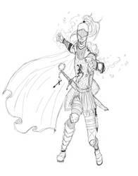 midieval knight by ehteshamhaider