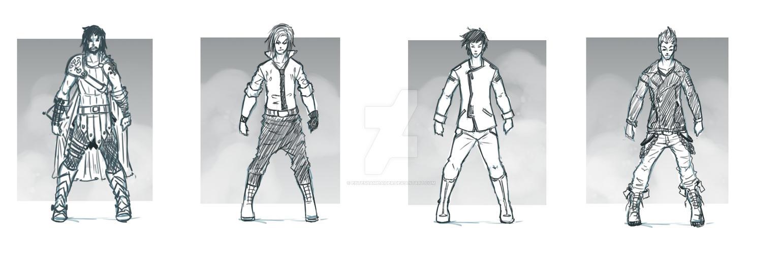 character designs set 1 by ehteshamhaider