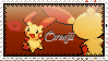 {Stamps} Orenjii The Shiny Plusle by galaxypuppyelectric