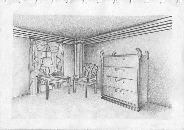 Interior Design _ Hand Drawing By Estz ...