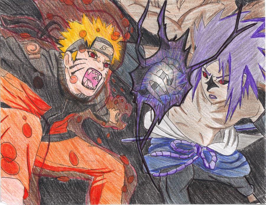 Big Fight- Naruto Vs Sasuke By TwinLtwinV On DeviantArt