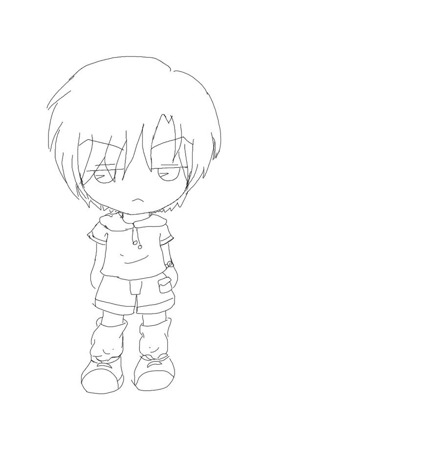 Coloring Male Anime Base Hoodie Coloring Pages