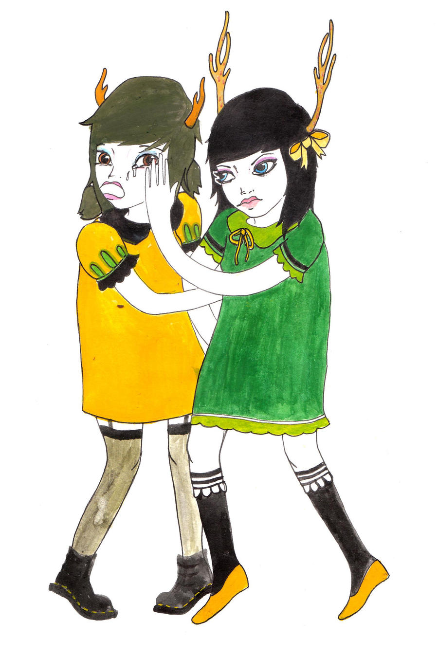 girls fightin by lemaddy
