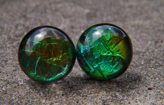 Deep Green Earrings by JEricaM