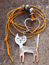 Cat Necklace #Handmade