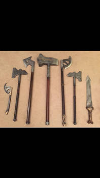 Homemade Dwarf weapons