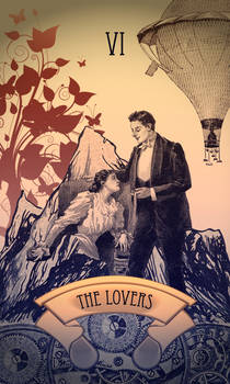 Steampunk Tarot Card: The Lovers