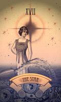 Steampunk Tarot Card: The Star