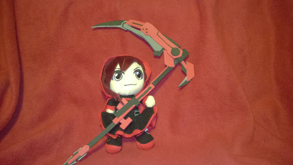 Chibi Ruby Plush with Crescent Rose by Sh0cK3R-Rotom