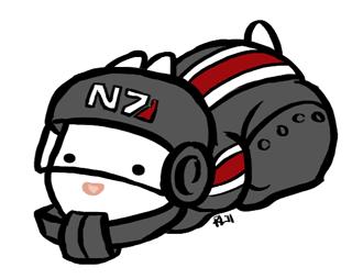 N7 Bunny by regeener