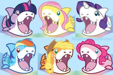 My Little Sharkies by regeener