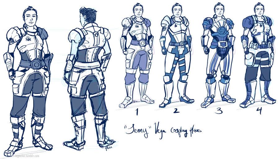 rule63 Vega armored cosplay plans by regeener