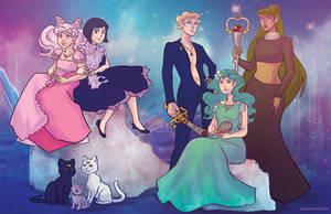 Princess Senshi- Outer Senshi by regeener