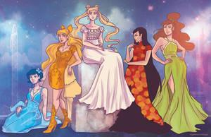 Princess Senshi- Inner Senshi by regeener