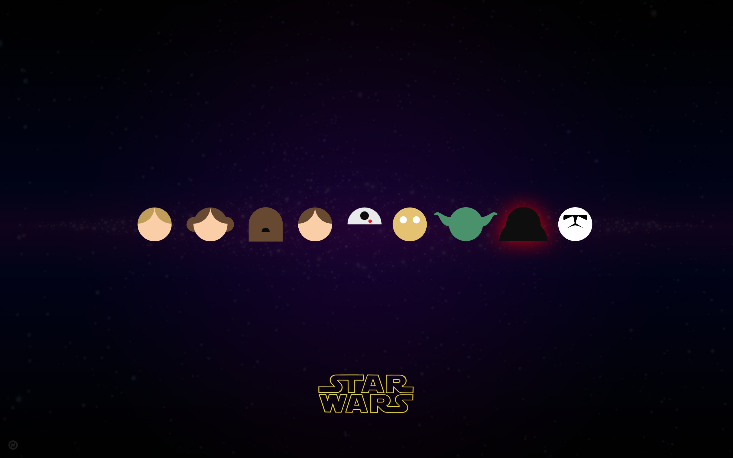 Star Wars Characters in Vector by Neightron