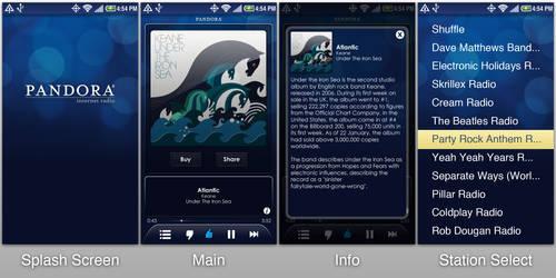 Pandora Mobile App Redesign