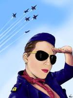 Stewardess Salute