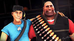 Blue Scout and Red Heavy