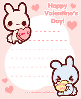 Printable Valentine's Day Stationary by Pijenn