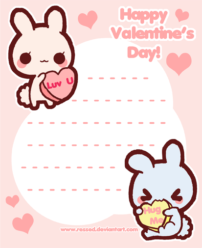 Printable Valentineu0027s Day Stationary By Pijenn ...