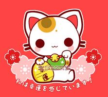 Chibi Maneki Neko by Pijenn