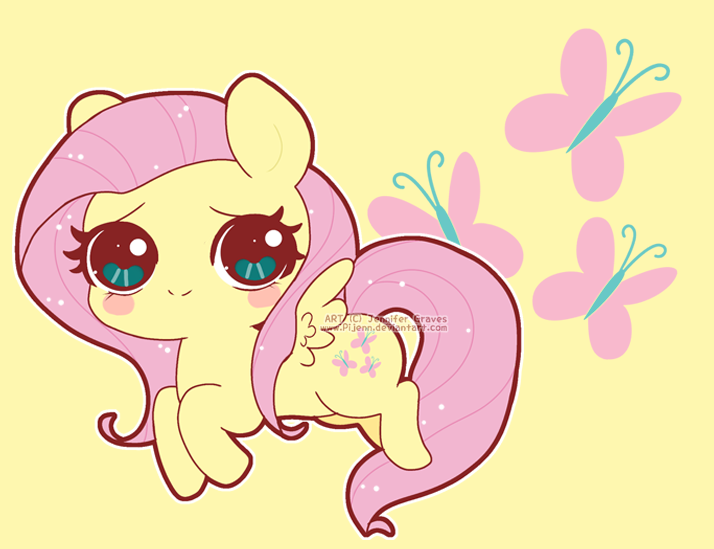 Chibi Fluttershy by Pijenn on DeviantArt