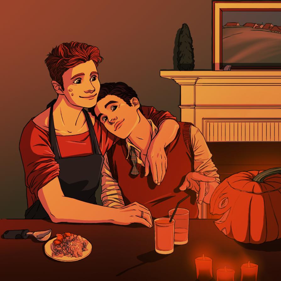 Happy Klaine Halloween 2012 by yu-oka