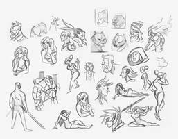 CTN Sketches 002 by Tigerhawk01