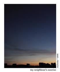 my neighbour's sunrise 2