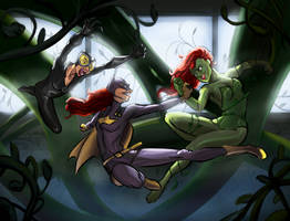 Fighting in the vines by javicandraw