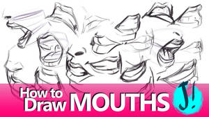 HOW TO DRAW MOUTHS - A Youtube Tutorial by javicandraw